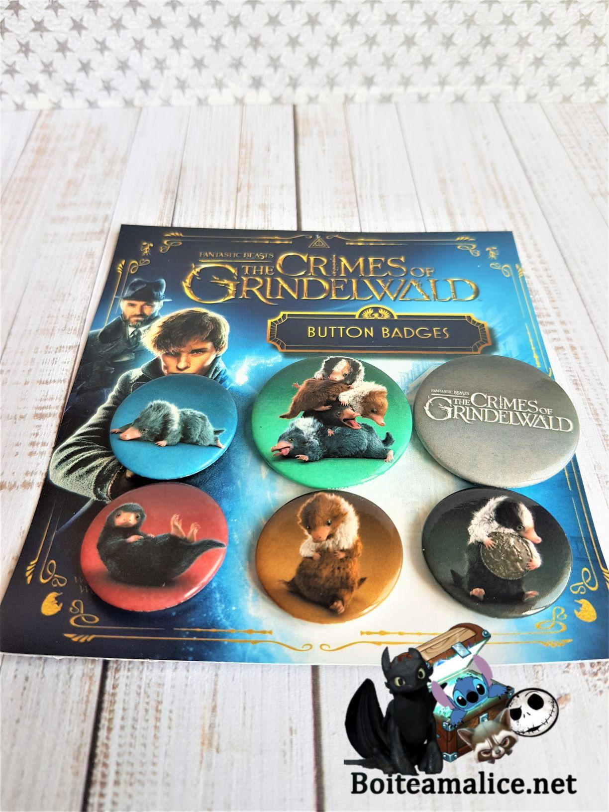 Les animaux fantastiques crimes de grindelwald harry potter badge
