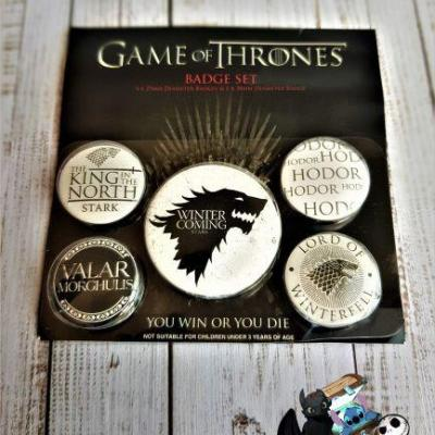 Lot de badge game of thrones