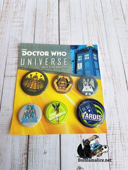Lot de badges dr who