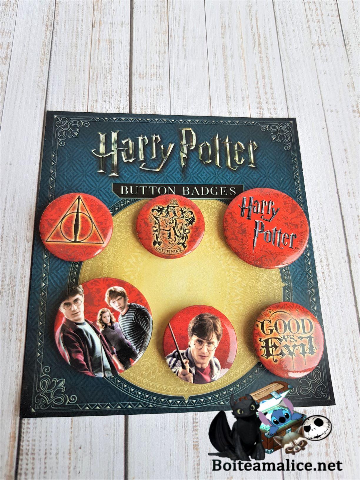Lot de badges harry potter 1
