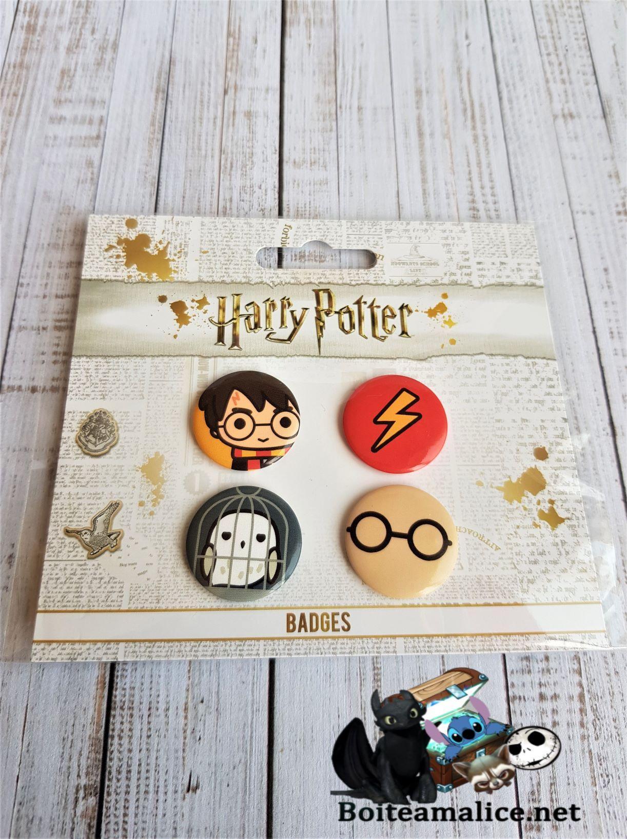 Lot de badges harry potter