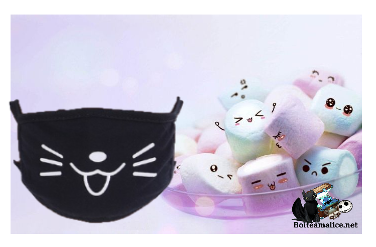 Masque chat kawaii sourire