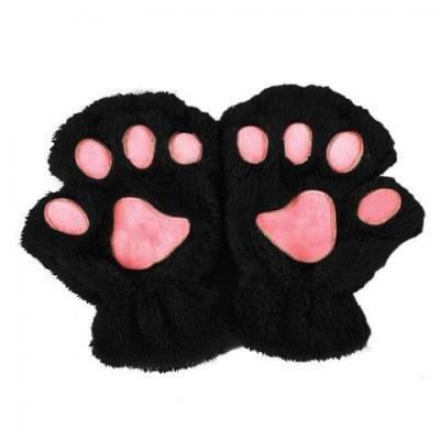 Mitaine patte de chat noir