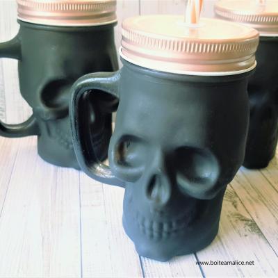 Mug tete de mort rock