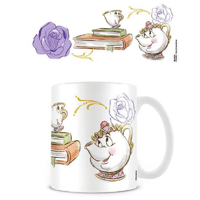 Mug zip et mrs potts la belle et la bete disney