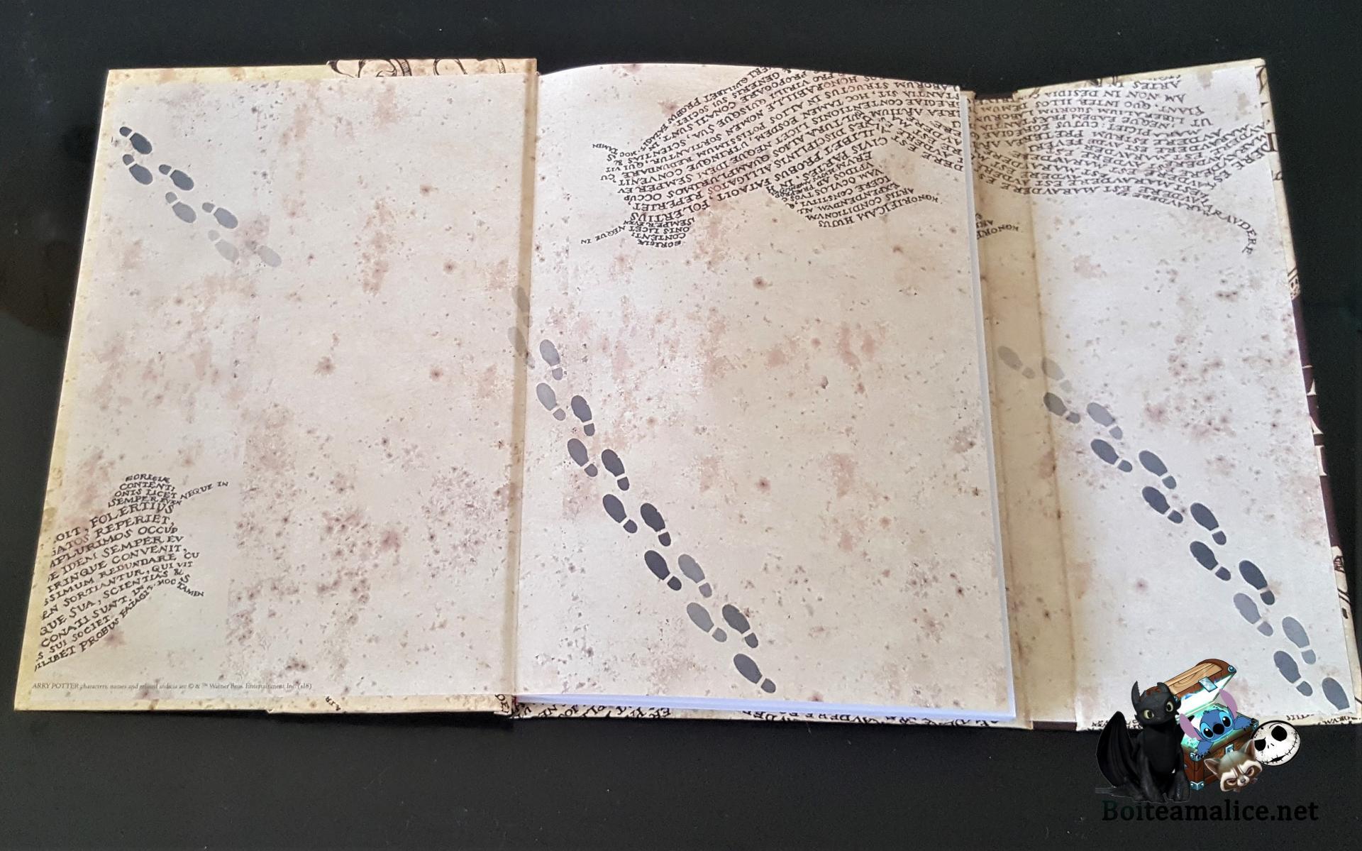 Notebook carte maraudeur harry potter