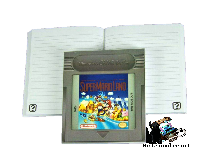 Notebook cartouche game boy mario
