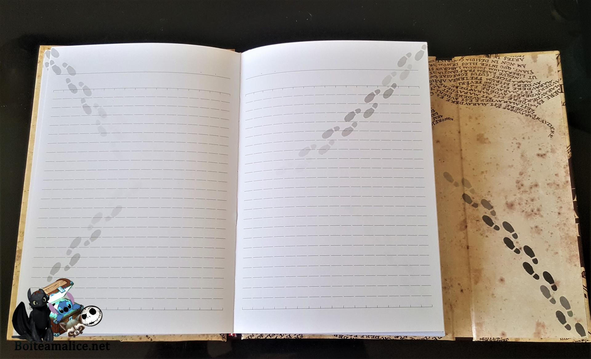 Notebook harry potter carte marauders