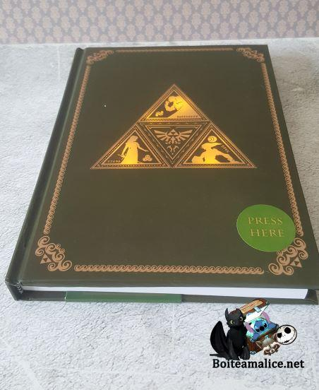 Notebook triforce lumineux zelda