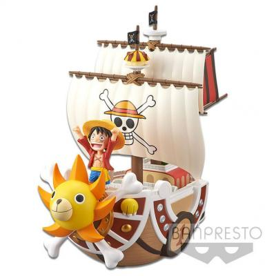 One piece figurine thousand sunny mega world collectable 19 cm