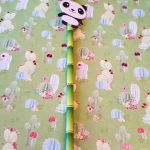 Paille panda decoration table