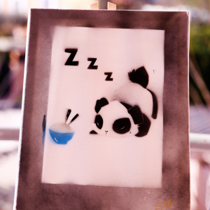 Panda kawaii gourmand