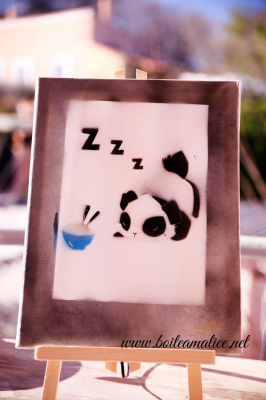 Panda kawaii gourmand