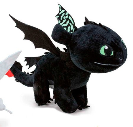 Peluche dragon 3 noir