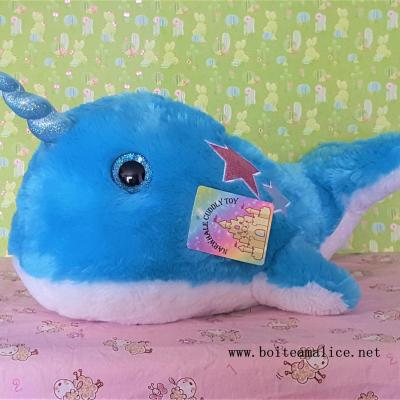 Peluche narval bleu 1