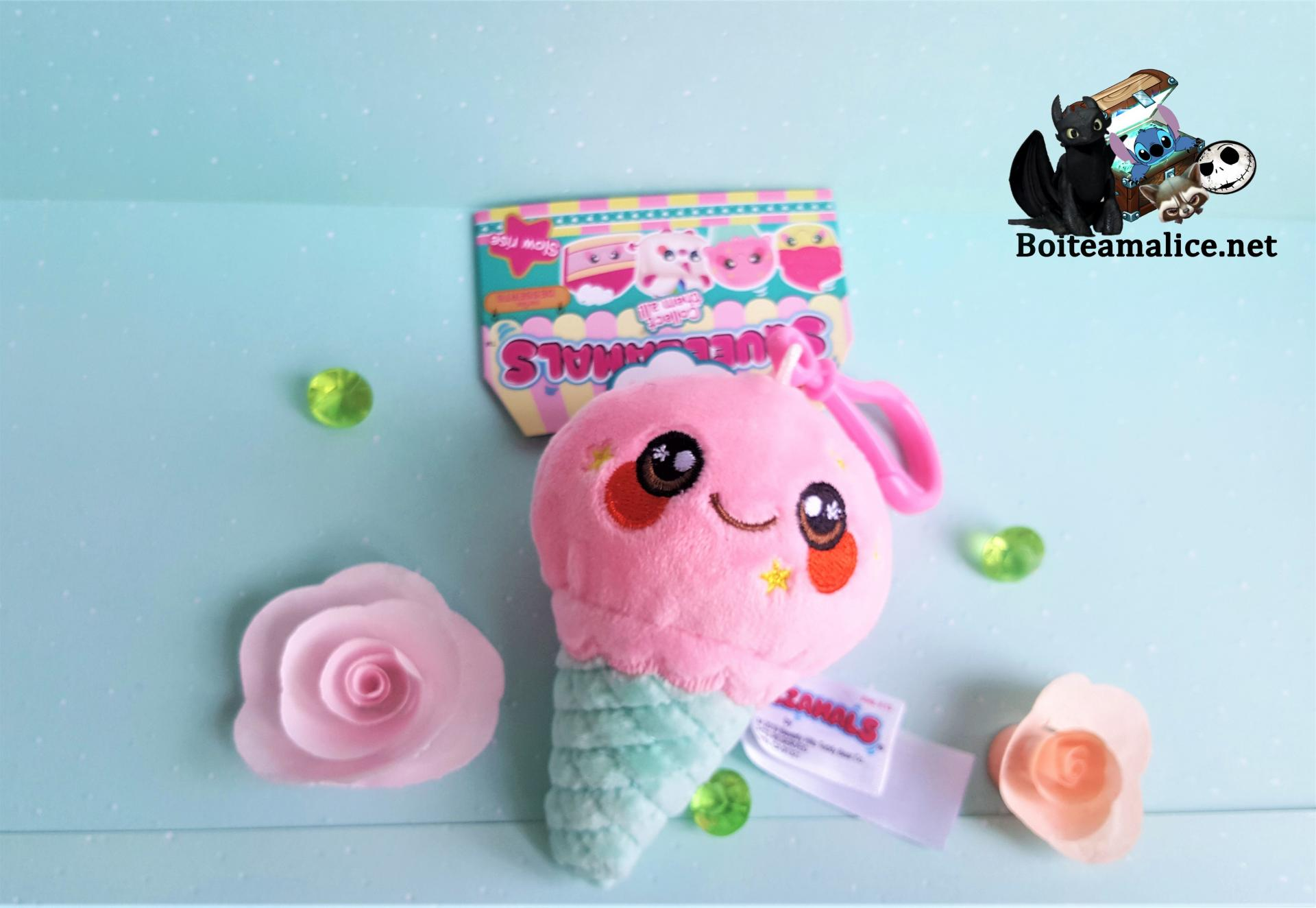 Peluche squichy glace kawaii porte cle