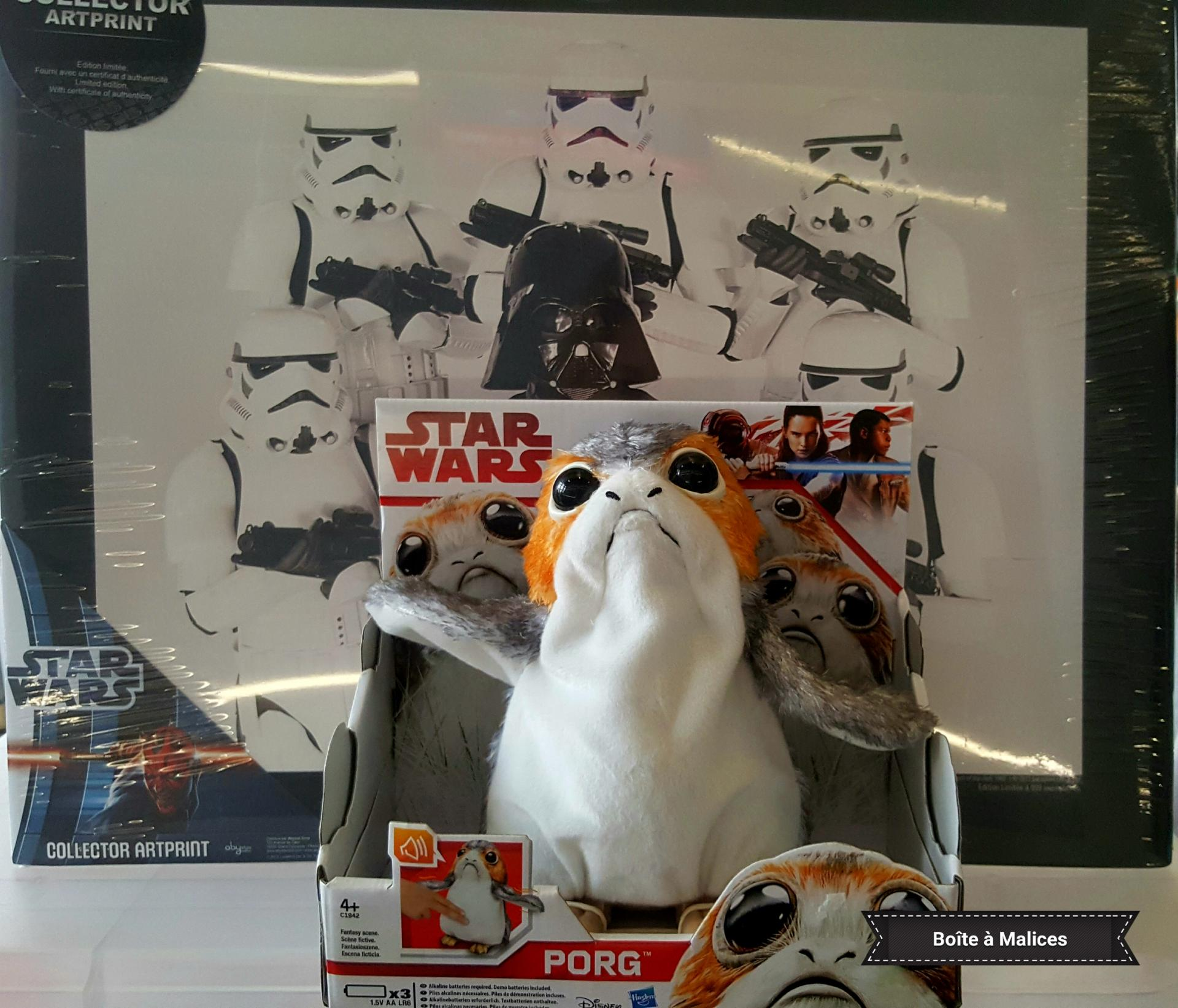 Peluche star wars porg qui bouge