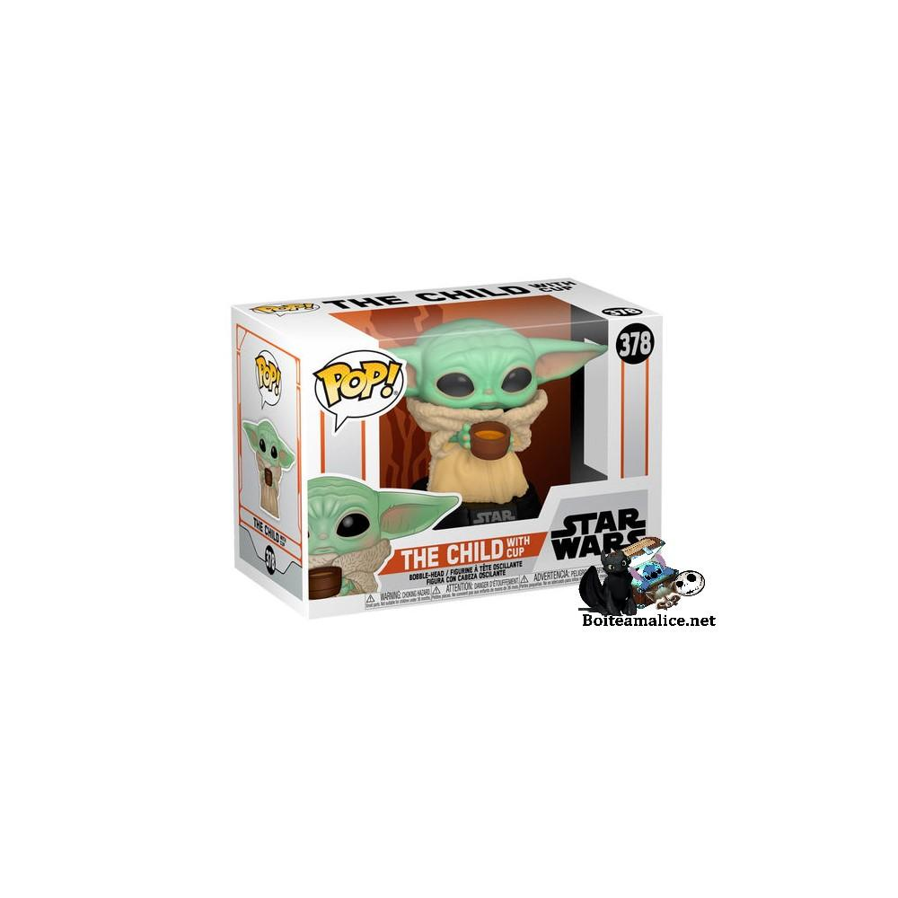 Pop yoda star wars mandalorian the child with cup