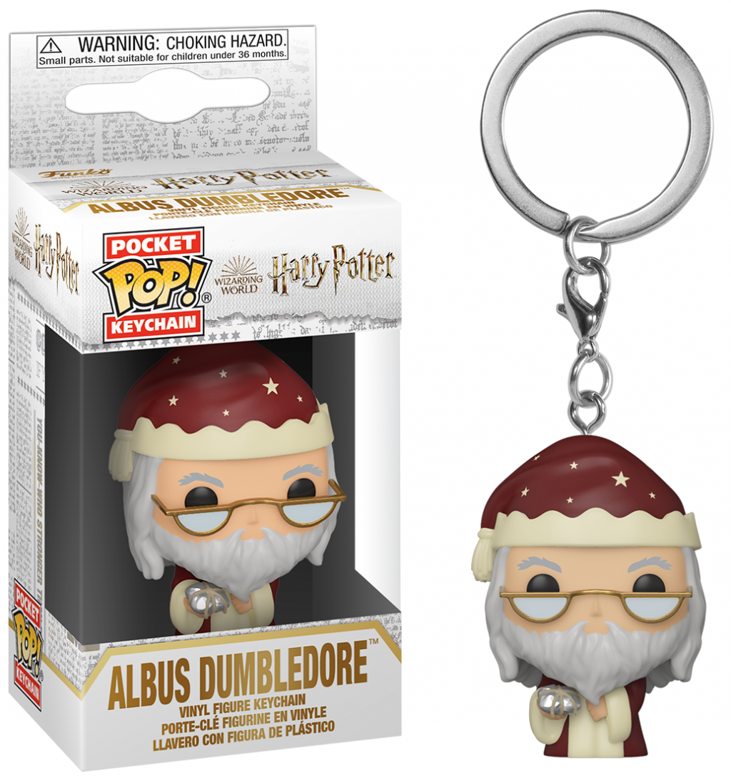 Porte cle funko pop harry potter holiday dumbledore