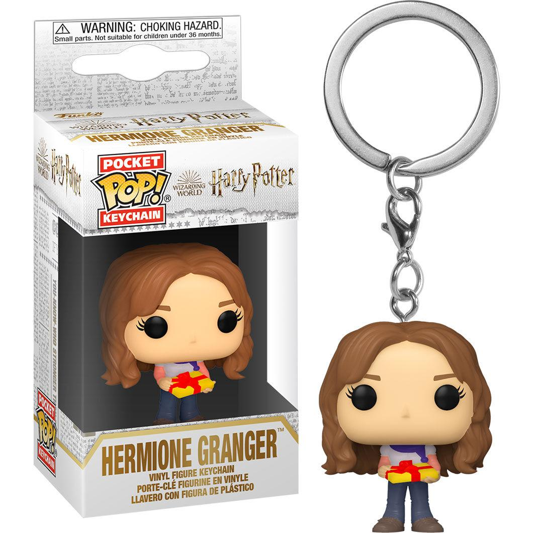 Porte cles harry potter holiday hermione funko pop