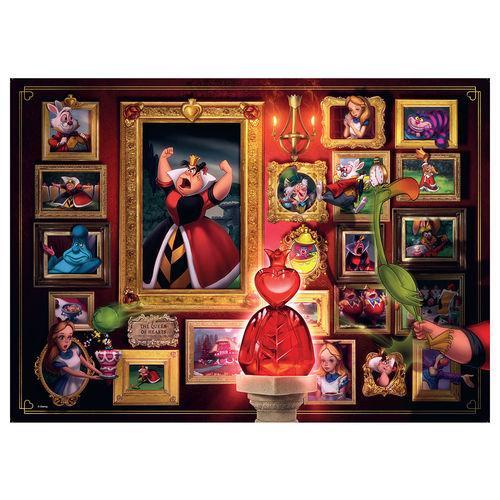Puzzle alice reine de coeur villainous disney