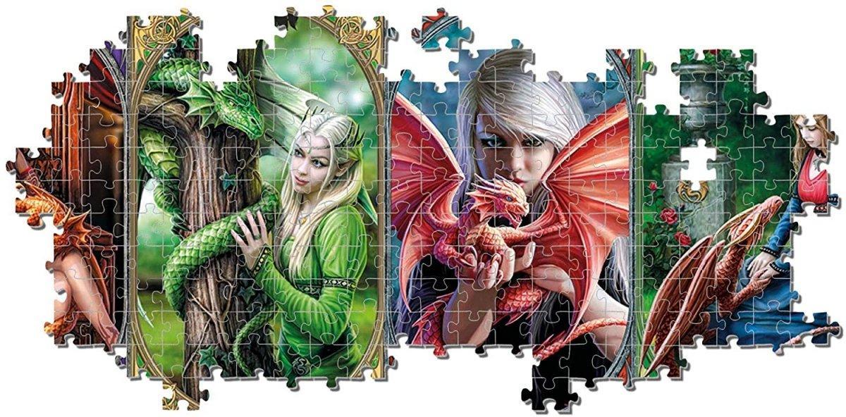 Puzzle dragon panorama 1000 pieces clementoni