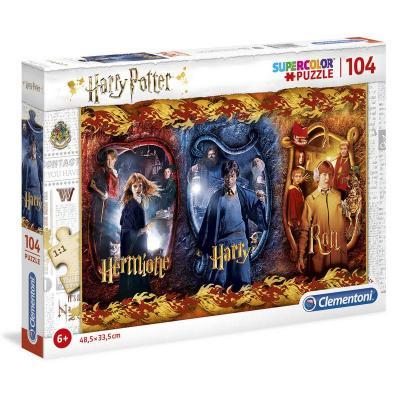 Puzzle harry potter 104 pieces harry ron hermione