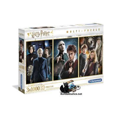Pack 3 Puzzles Personnages Harry Potter 3x1000 pièces
