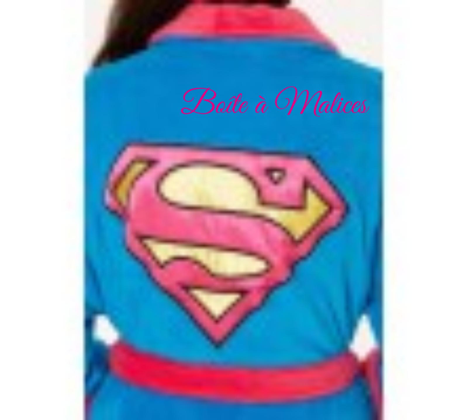 Robe de chambre super girl femme