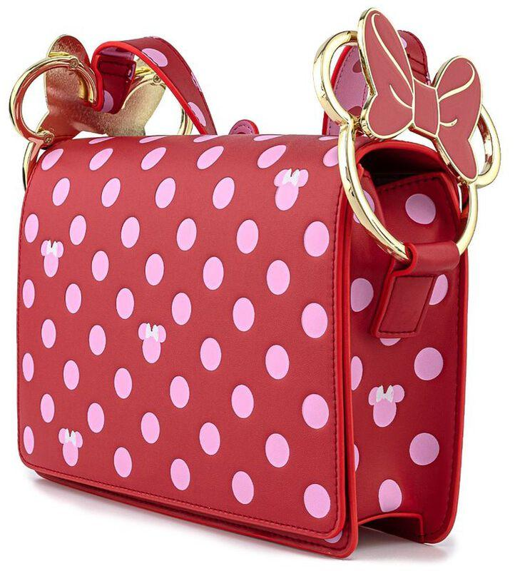 Sac loungefly minnie pink polka dot