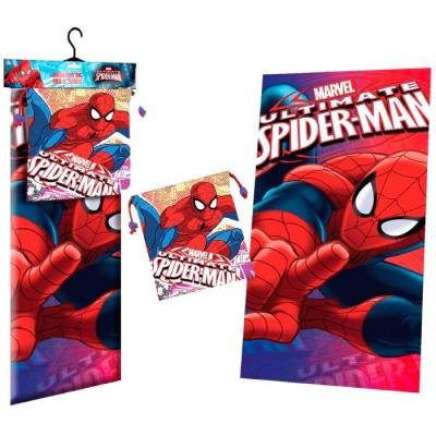 Serviette de plage spiderman marvel