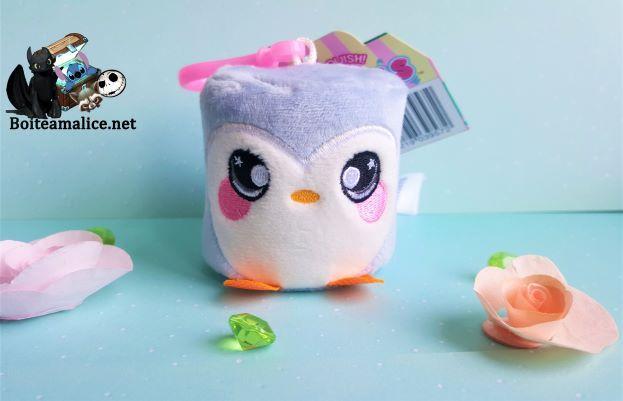 Squichy porte cles squeezamals pingouin peluche