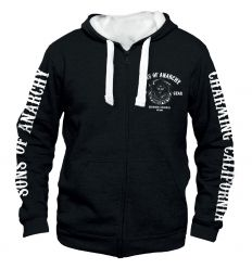 Sweat shirt zippe sons of anarchy men of mayhem