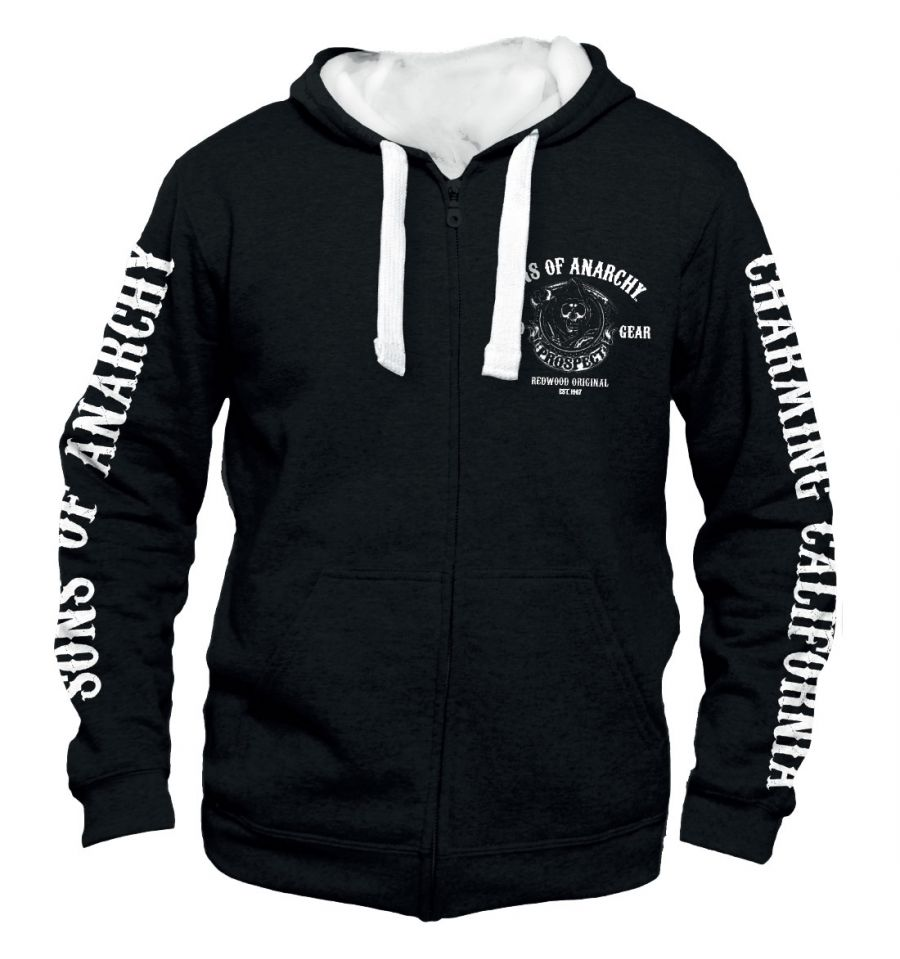 Sweat shirt zippe sons of anarchy