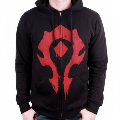 Sweat shirt zippe warcraft horde