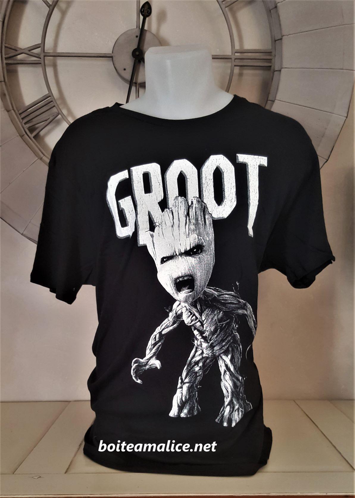 T shirt anger groot homme gardien de la galaxie 1