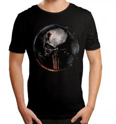 T shirt daredevil marvel blood punisher logo