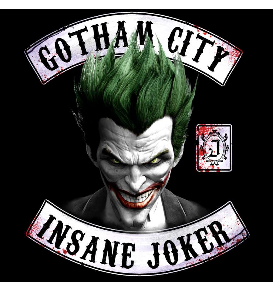 T shirt dc comics the joker insane joker 1