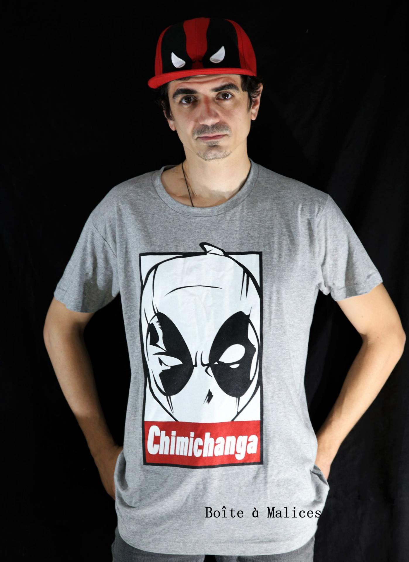 T shirt deadpool chimichanga