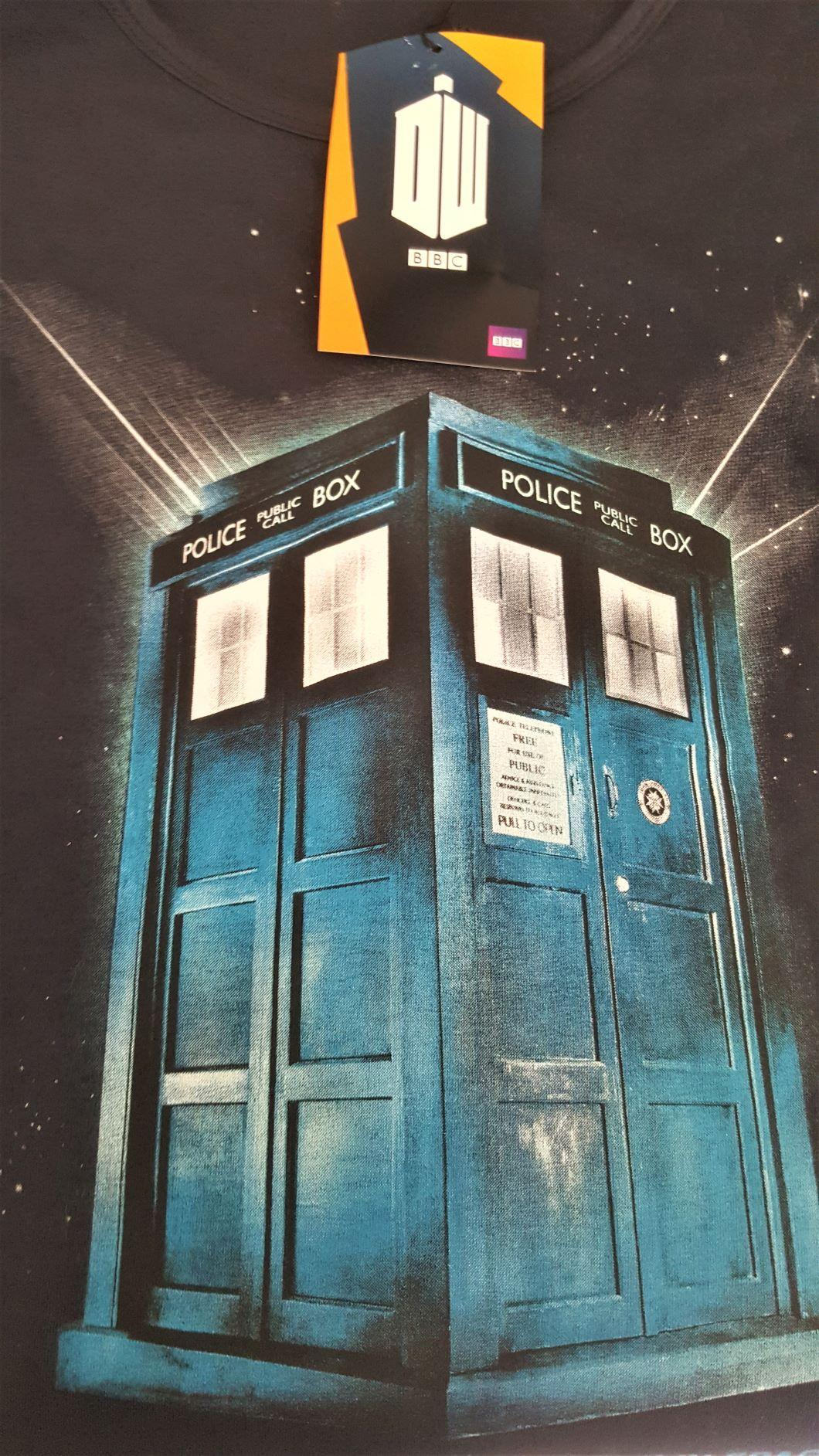 T shirt dr who femme police box