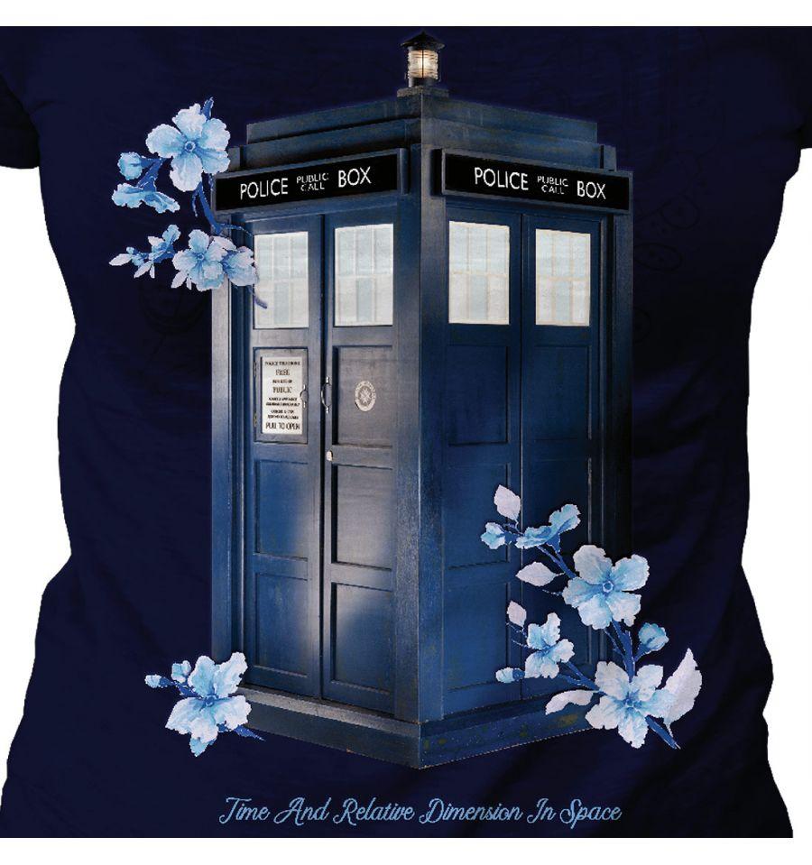T shirt dr who tardis femme