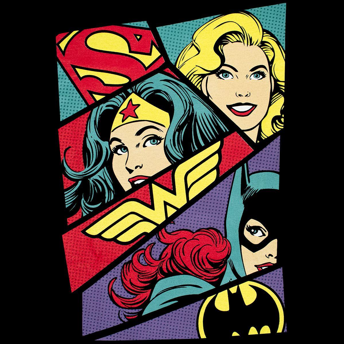 T shirt femme dc comics heroine art 1