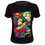 T shirt femme dc comics heroine art