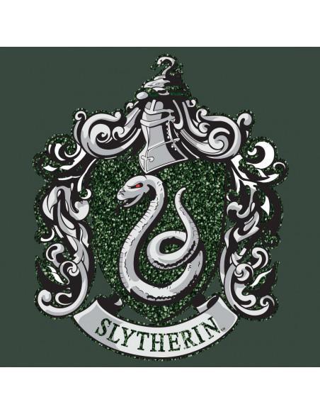 T shirt femme harry potter slytherin green glitter 1
