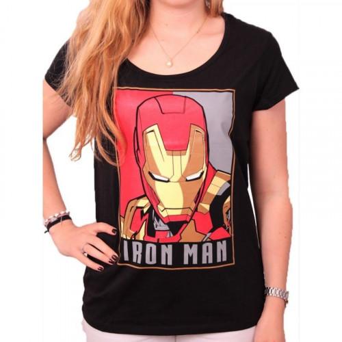 T shirt femme iron man