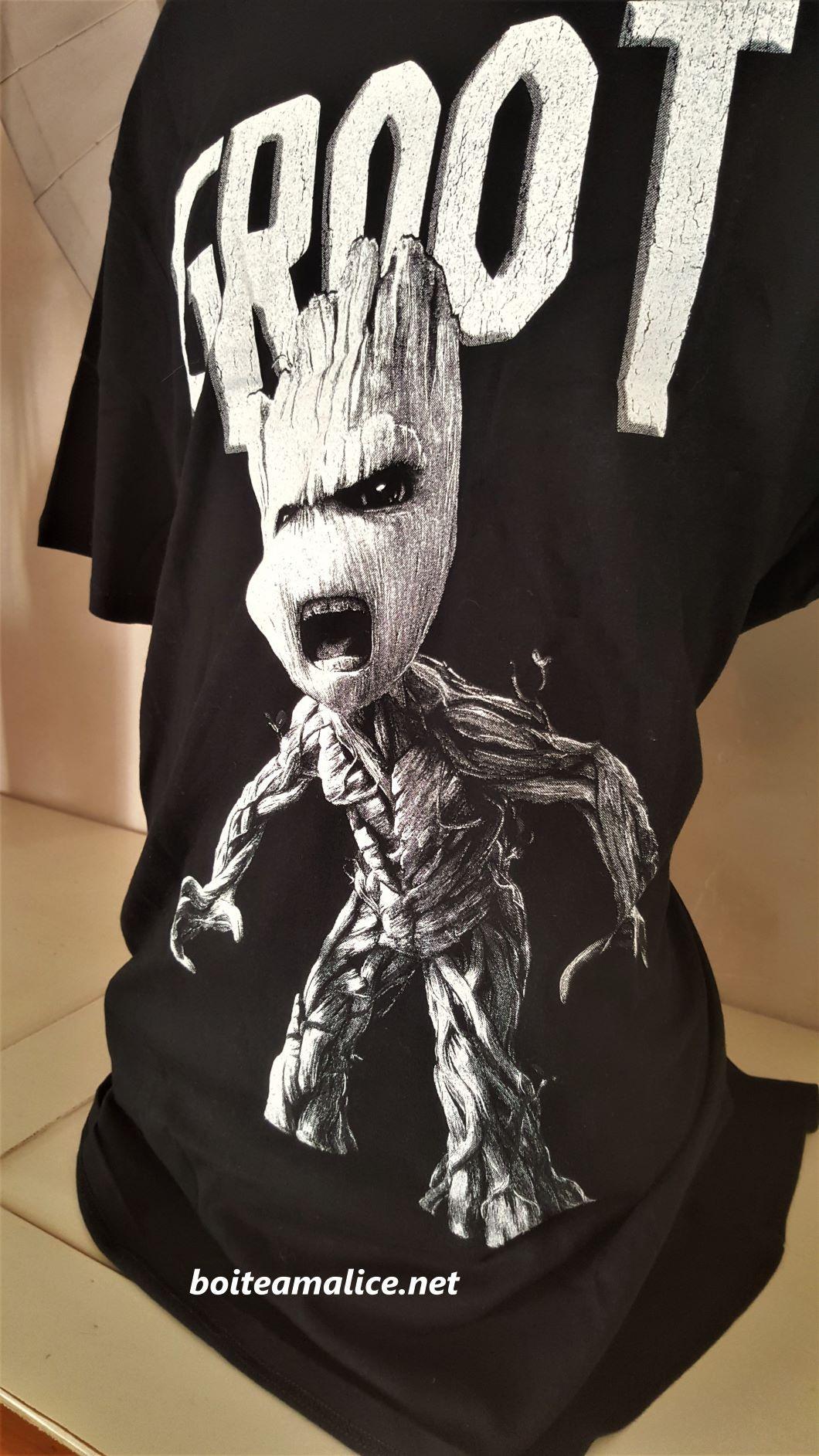 T shirt groot homme marvel 2