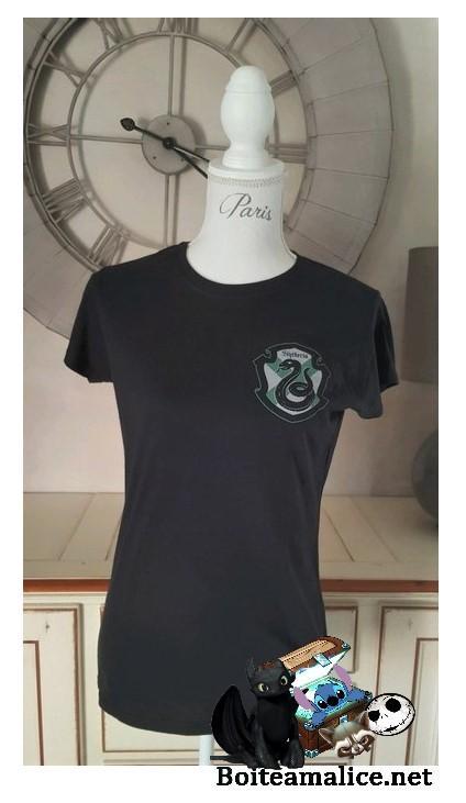 T shirt harry potter serpentard 3