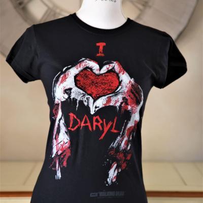 T shirt i love daryl walking dead femme
