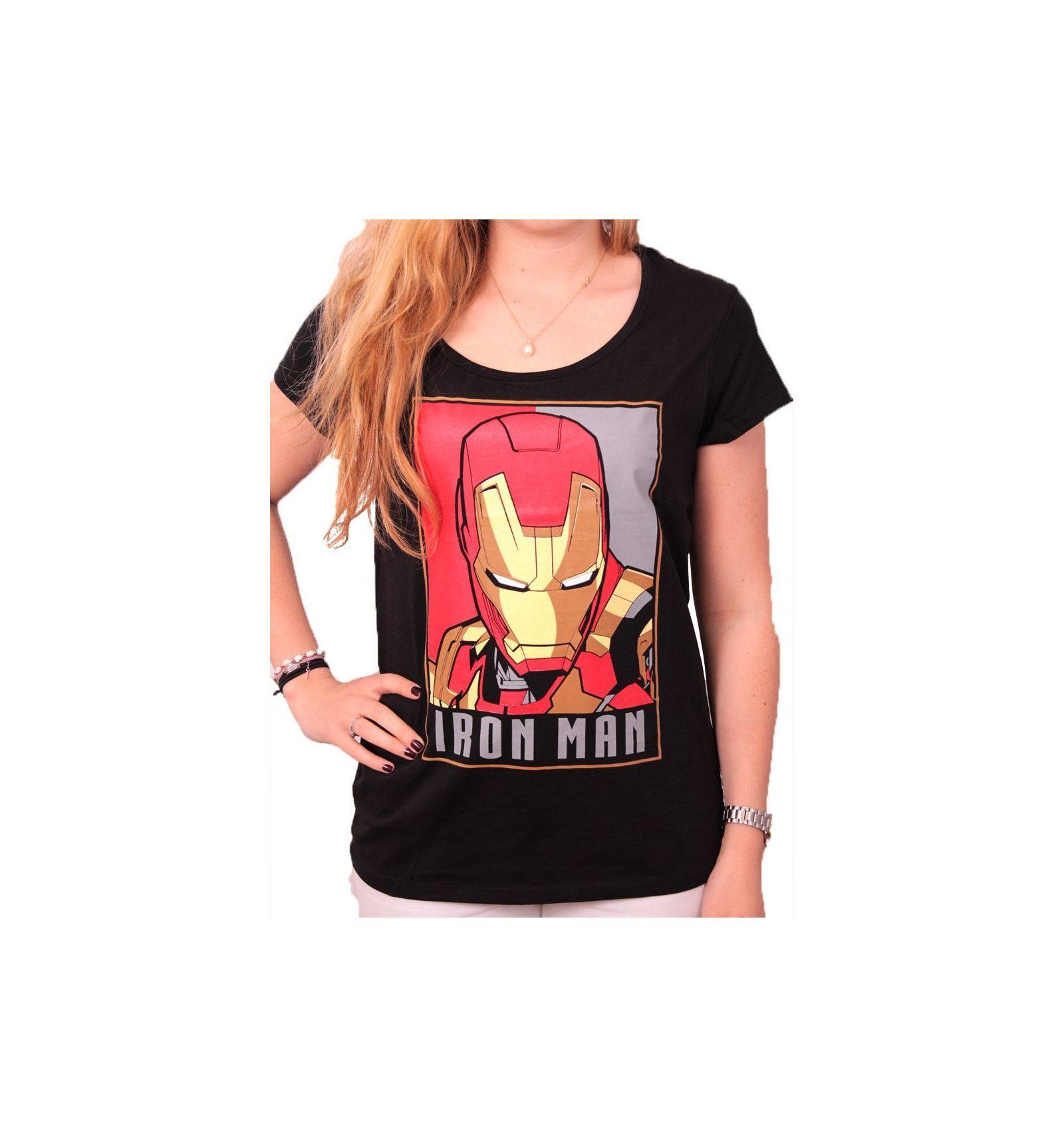 T shirt iron man femme 1
