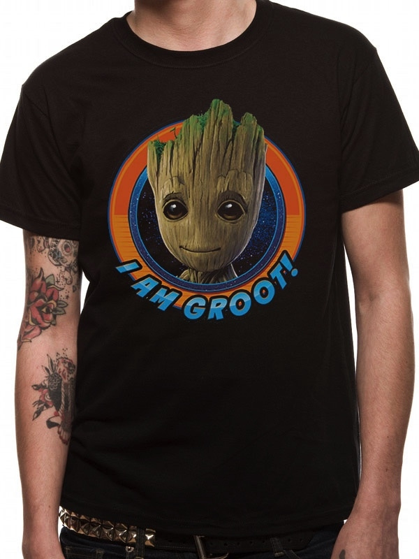 T shirt les gardiens de la galaxie groot circle s